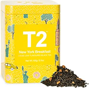 T2 Tea New York Breakfast Breakfast Black Tea, Loose Leaf Tea in Limited Edition Tin, 100g, 100 g