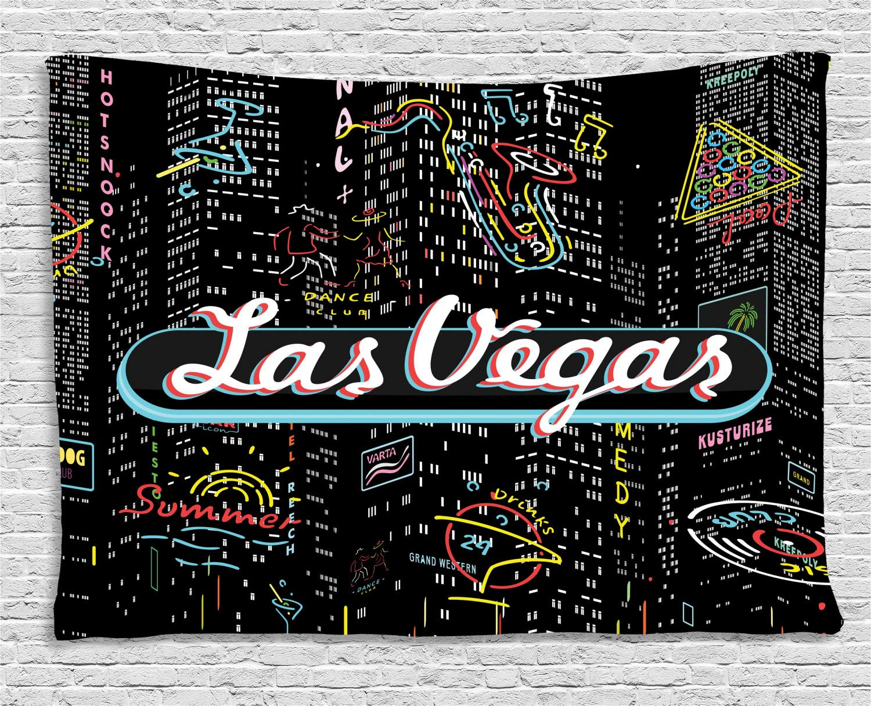 ABAKUHAUS Las Vegas Tapiz de Pared, Edificios Sax Bar Signos, para ...