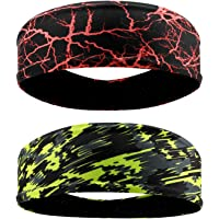 QKURT Deportes Diadema (2PCS), Unisex Sweatband Yoga Fitness