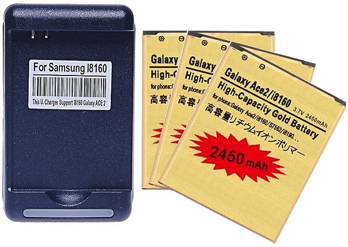 Amazon.com: 3X 2450mAh Baterías de Remplazo de Alta ...