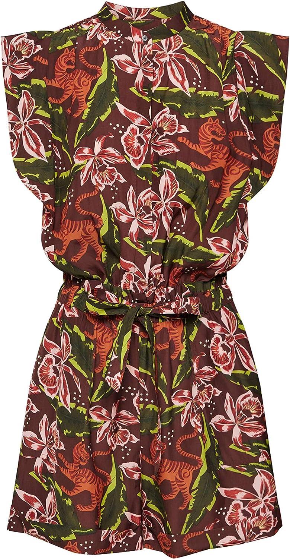 Scotch /& Soda Damen Playsuit mit floralem Print Jumpsuit