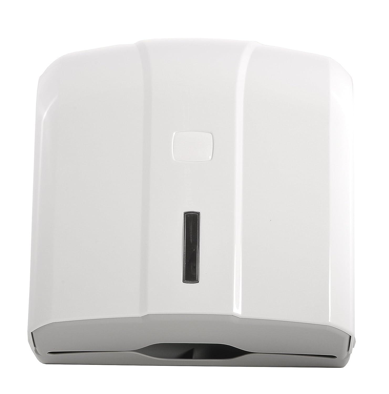 Semy St-5000 Dispenser per Asciugamani Piegati a Z//C Bianco in Plastica