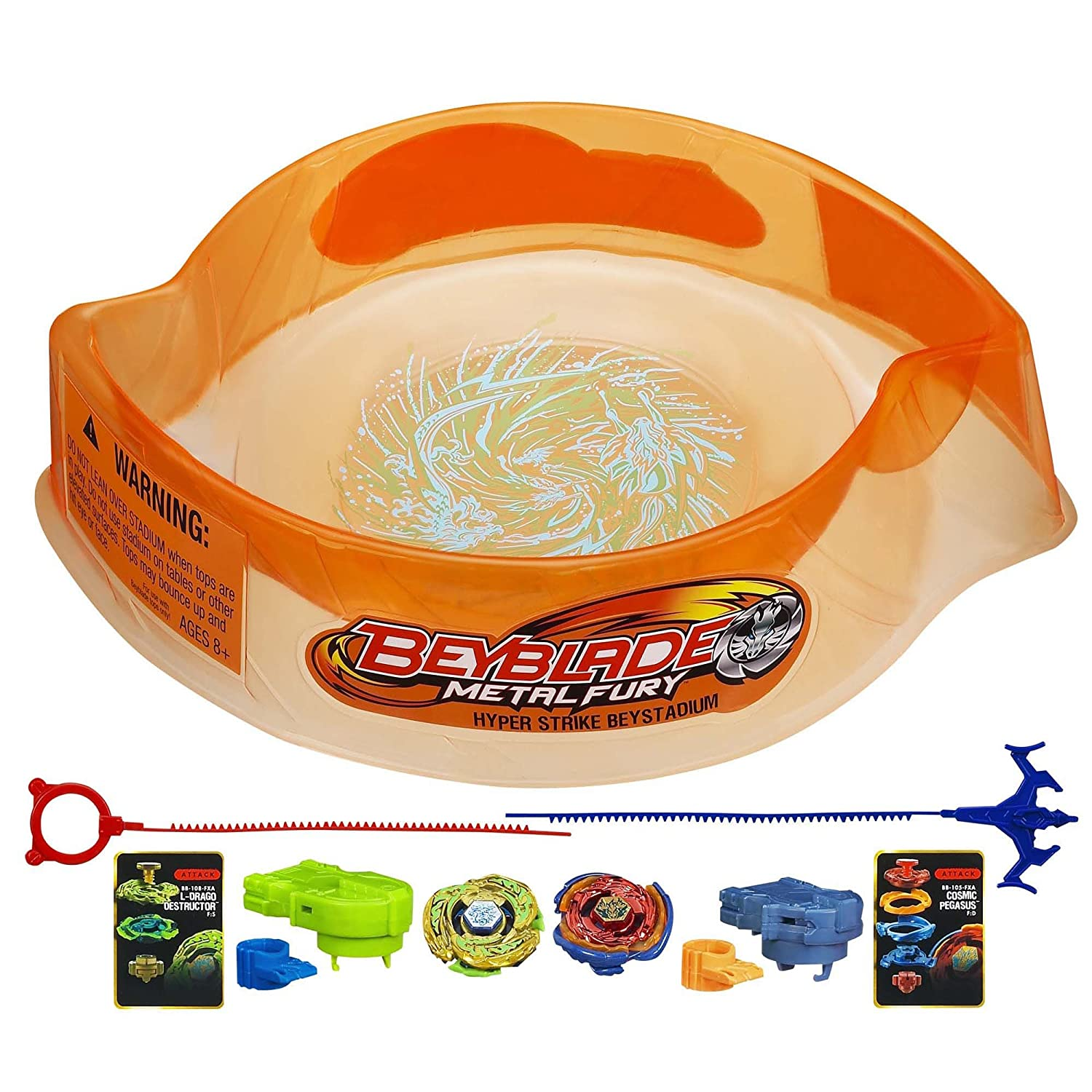 Beyblade Metal Fury Hyperblades Hyper-Strike Battle Set Hasbro A1778