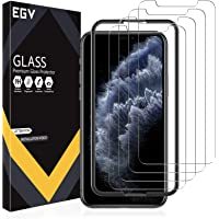 EGV 4 Pack Screen Protector for iPhone 11 Pro/iPhone Xs/iPhone X 9H HD Clear Tempered Glass, Case Friendly, Alignment…