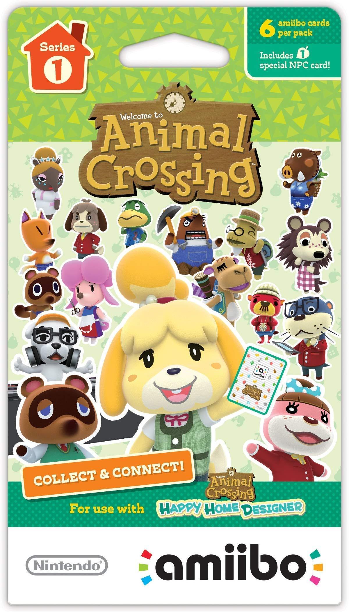 Animal Crossing Amiibo Cards Series 1 - Full box (18 Packs) (6 Cards Per Pack/108 Cards) (Renewed)