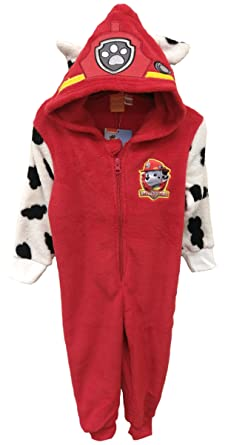 255d6d8b3546 Paw Patrol Marshall Onesie Official Boys Hooded Red Pyjamas
