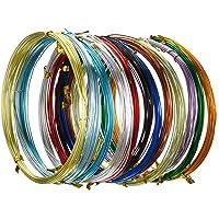 12 Rollos de Alambre de Aluminio Multicolor