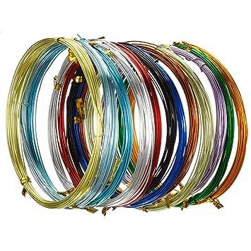 Hestya 12 Rollen Mehrfarbigen Aluminium Handwerk Draht, Flexible ...