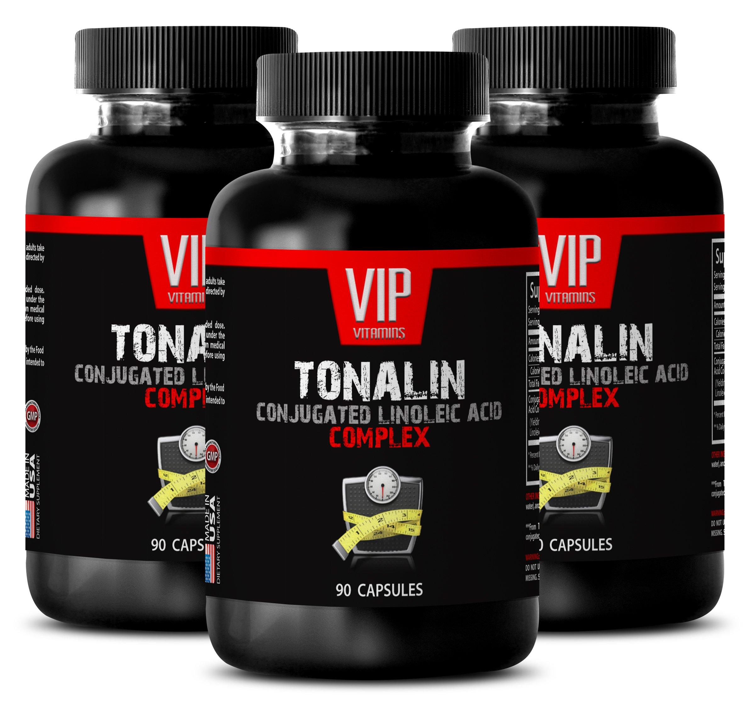 Natural workout supplements - TONALIN Conjugated Linoleic Acid Complex - Energy supplement for men - 3 bottles 270 Capsules