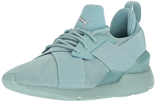 PUMA Womens Muse Elevated Wn Sneaker, Aquifer, ...