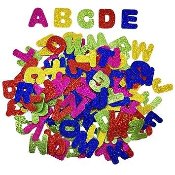 Yxjd 150pcs Selbstklebende Buchstaben Glitzer Aufkleber