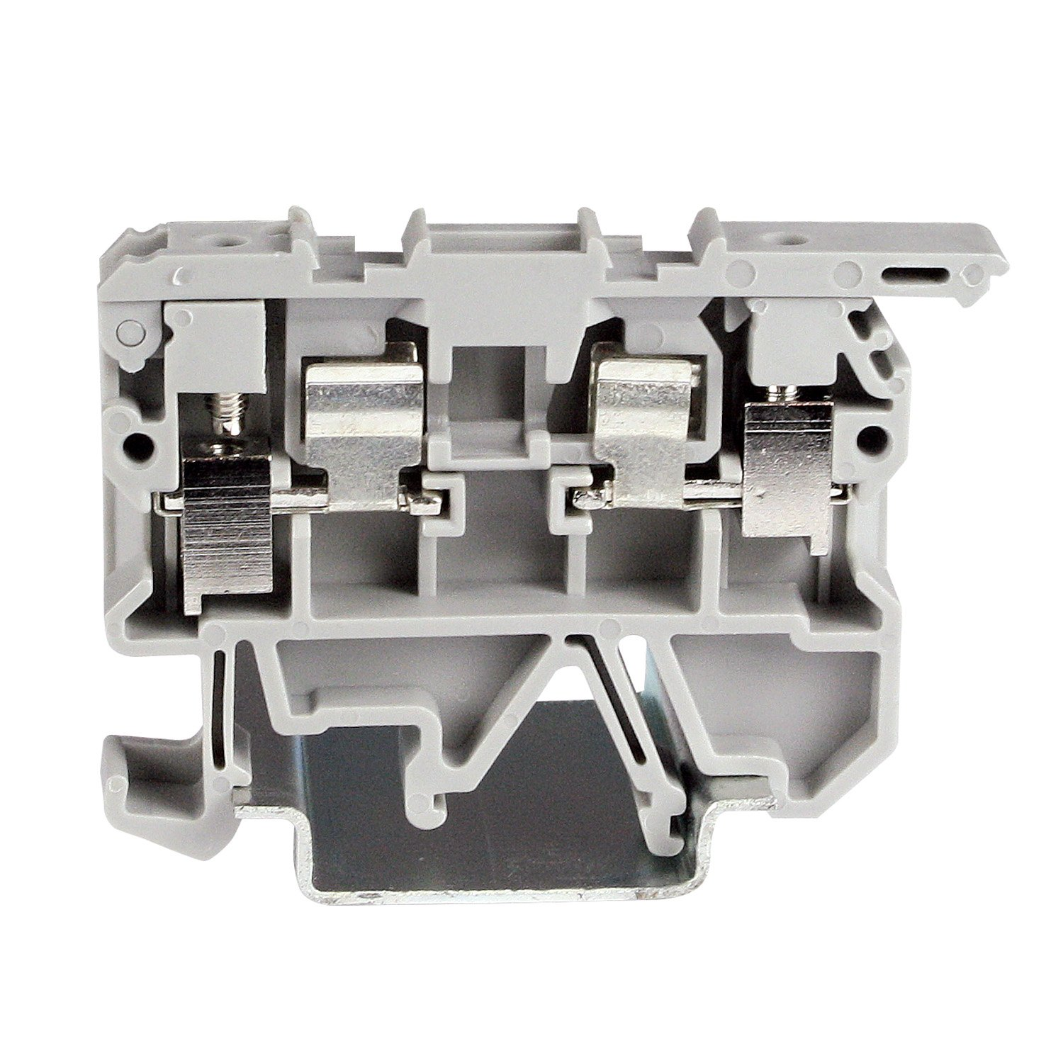 ASI ASIASK1 DIN Rail Fuse Disconnect Terminal Block, Screw Clamp, 5 mm x 20 mm, 8 mm Wide, UL Rated 10 Amp at 300V, 22 AWG to 12 AWG (Pack of 50)
