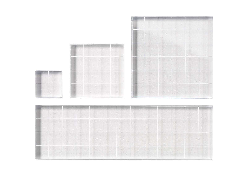 Fiskars 01-000068J Clear Stamp Block Set, 4 Piece