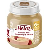 Heinz Strawberry and Banana Custard Jar,110 g