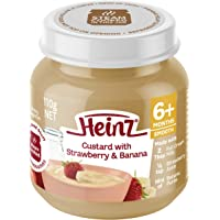 Heinz Strawberry and Banana Custard Jar, 110g