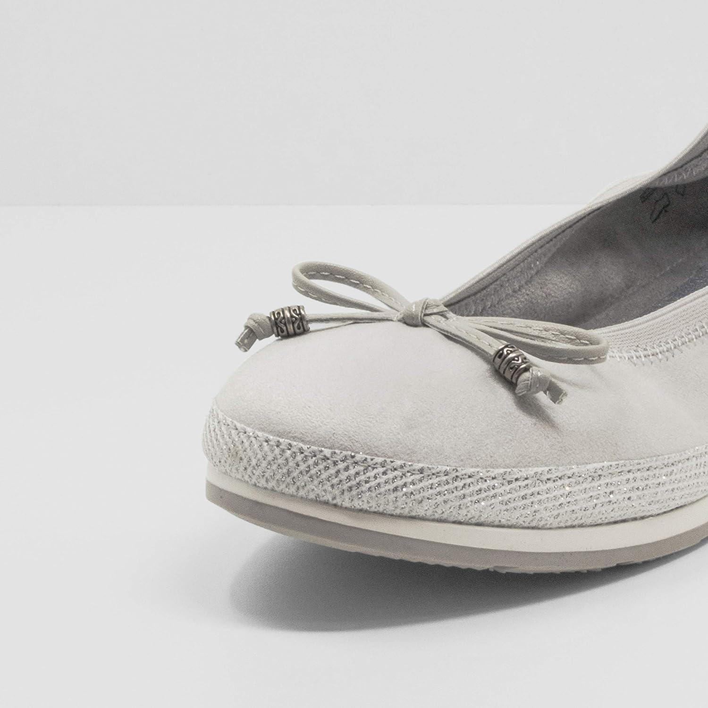 Fitters Footwear That Fits Celine Damen Ballerina Celine Microfibre Komfort Ballerina mit Schleife Stretch Bund (EU,)