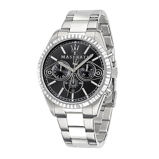 Maserati Reloj Cronógrafo de Cuarzo para Hombre con Correa de Acero Inoxidable - R8853100010: R8853100010: Amazon.es: Relojes