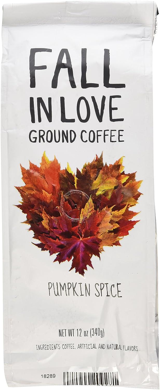amazon com fall in love flavored 12 oz ground coffee pumpkin