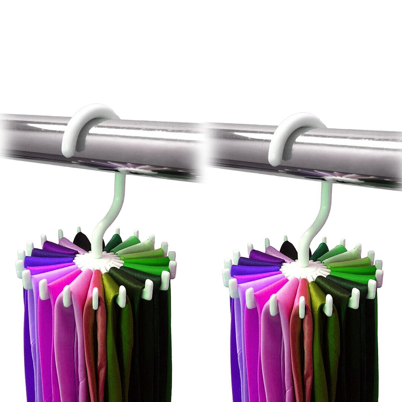 2 Pack Ipow 360 Degree Rotating Twirl Tie Rack Adjustable