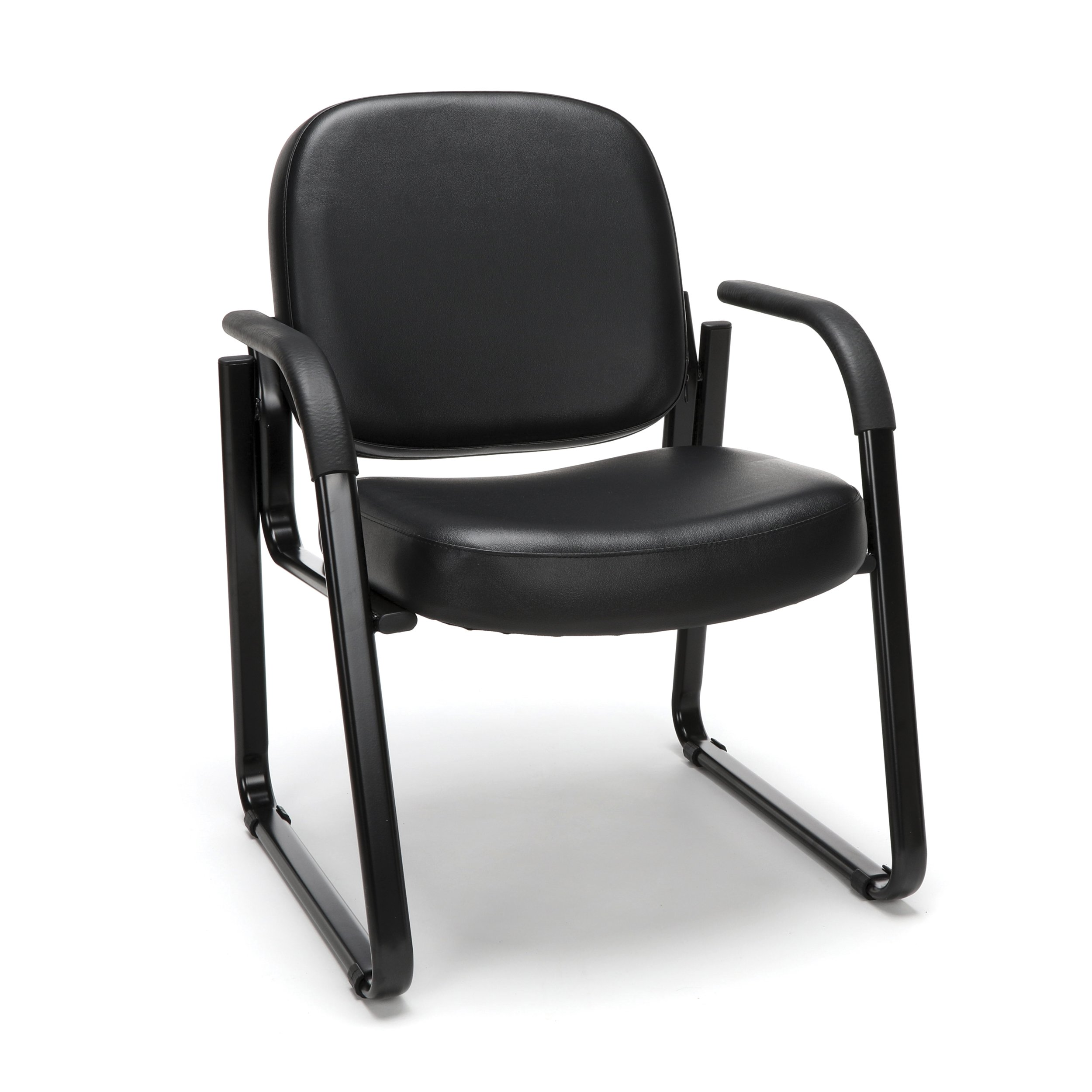 OFM Model 403-VAM Guest and Reception Chair with Arms, Anti-Microbial/Anti-Bacterial Vinyl, Black by OFM (Image #1)
