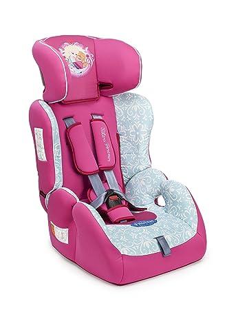 Disney Piku 6195 - Silla de coche, grupos 1/2/3 (9-36 kg, 1-12 años), diseño de Frozen, color rosa/multicolor