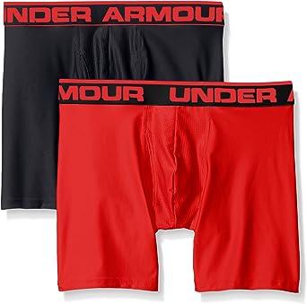 Under Armour UA Tech Graphic Print Boxerjock Mens 6 Inch Black Boxer Briefs L