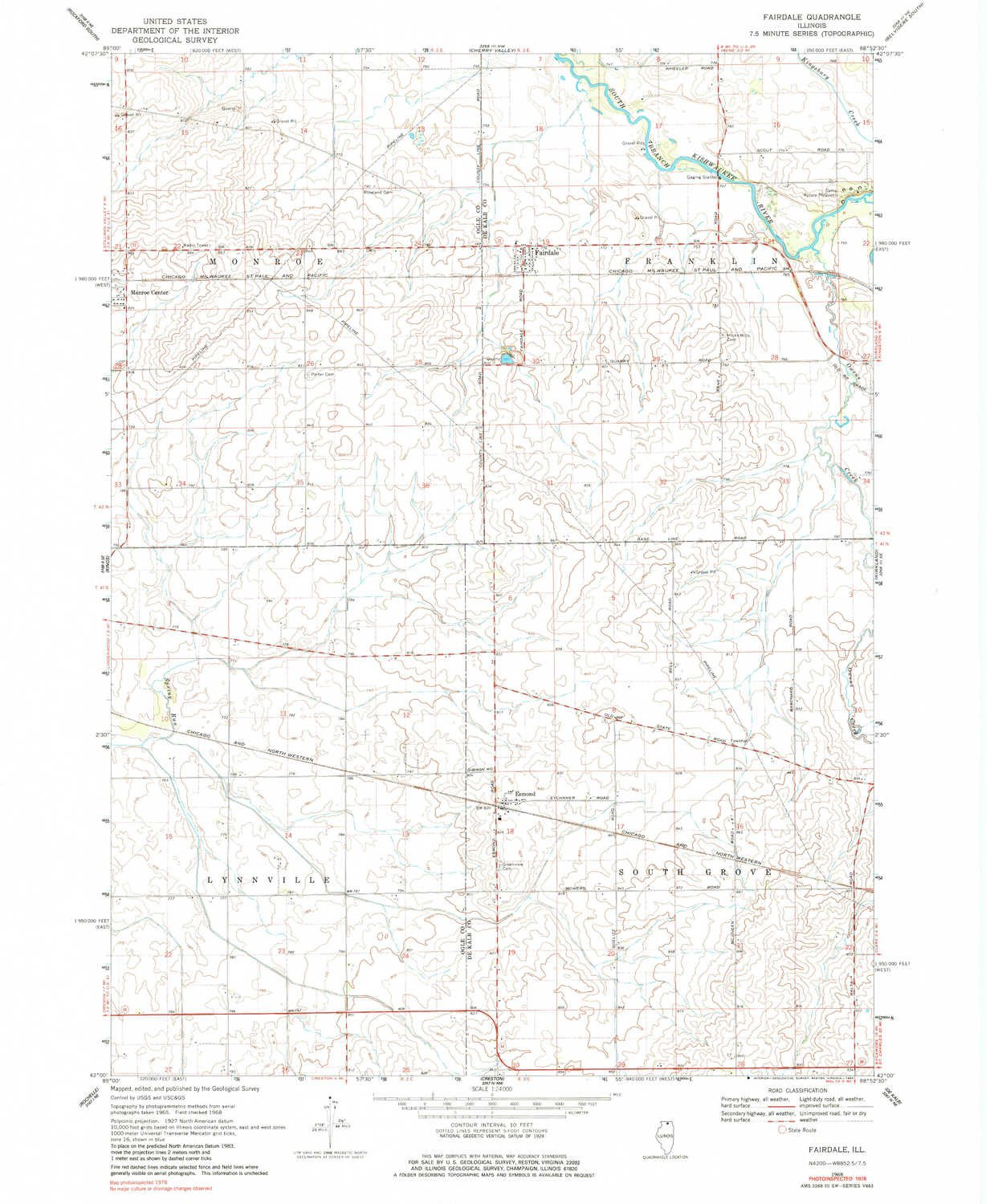 Amazon Com Yellowmaps Fairdale Il Topo Map 1 24000 Scale 7 5 X