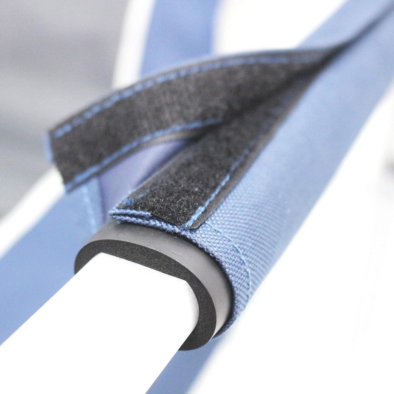 Bleu//gris Homecall Fauteuil de metteur en sc/ène pliable en aluminium