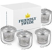 The Friendly Swede Acero Inoxidable Colador de té–Ideal