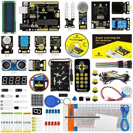 KEYESTUDIO Starter Kit a Arduino UNO con Guías Tutorial y Conjunto de UNO R3, ...