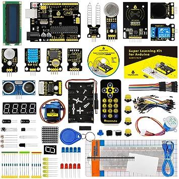 KEYESTUDIO Starter Kit a Arduino UNO con Guías Tutorial y Conjunto de UNO R3, a