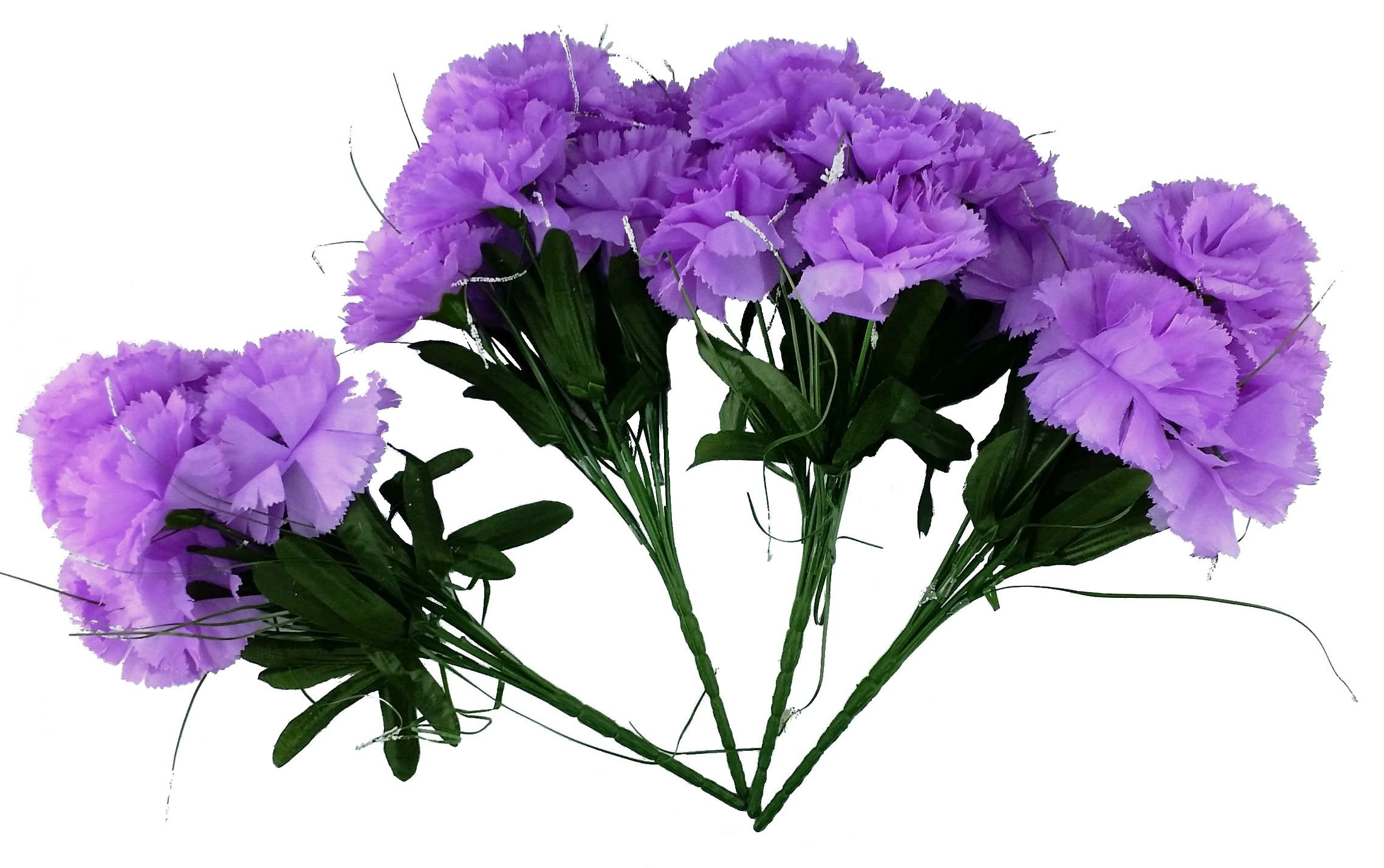 MM-TJ-Products-Artificial-Carnations-Bushes-7-stems-Pack-of-4-bushes-Lavender