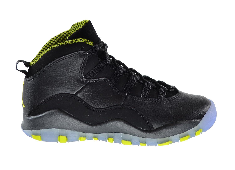 hot sale online 67831 66047 Amazon.com   Jordan 10 (GS) Big Kids Shoes Black Venom Green-Cool  Grey-Anthracite 310806-033   Basketball