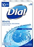 Dial Antibacterial Bar Soap, White, 4 Ounce, 10 Bars