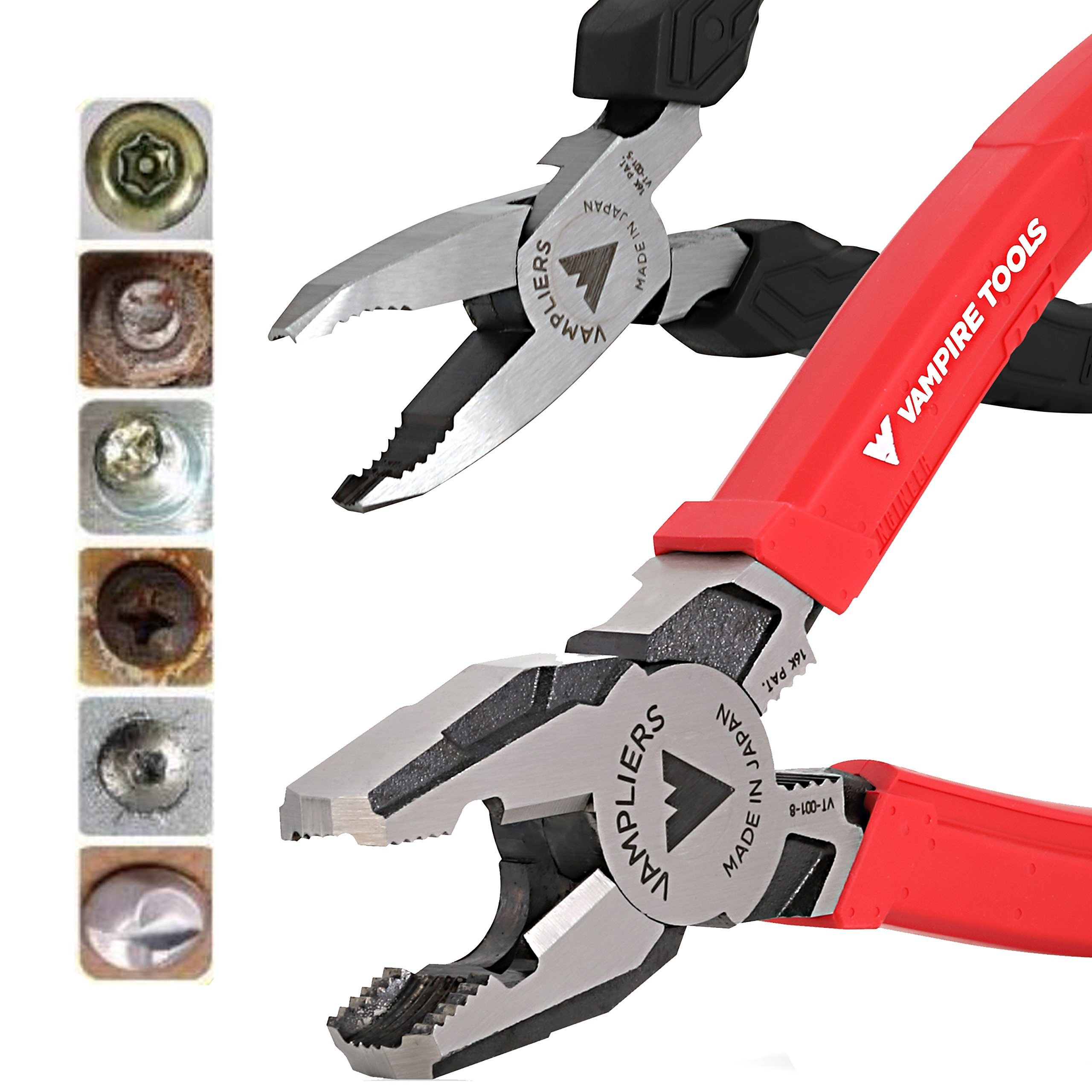 VamPLIERS World's Best Pliers VT-001-S2F Rusted/Damage/Security Screw Extraction Pliers Best Holiday Christmas Gift Ideal for Corporate/Friends and Family Gifts that last beyond Christmas season! by VAMPIRE PROFESSIONAL TOOLS