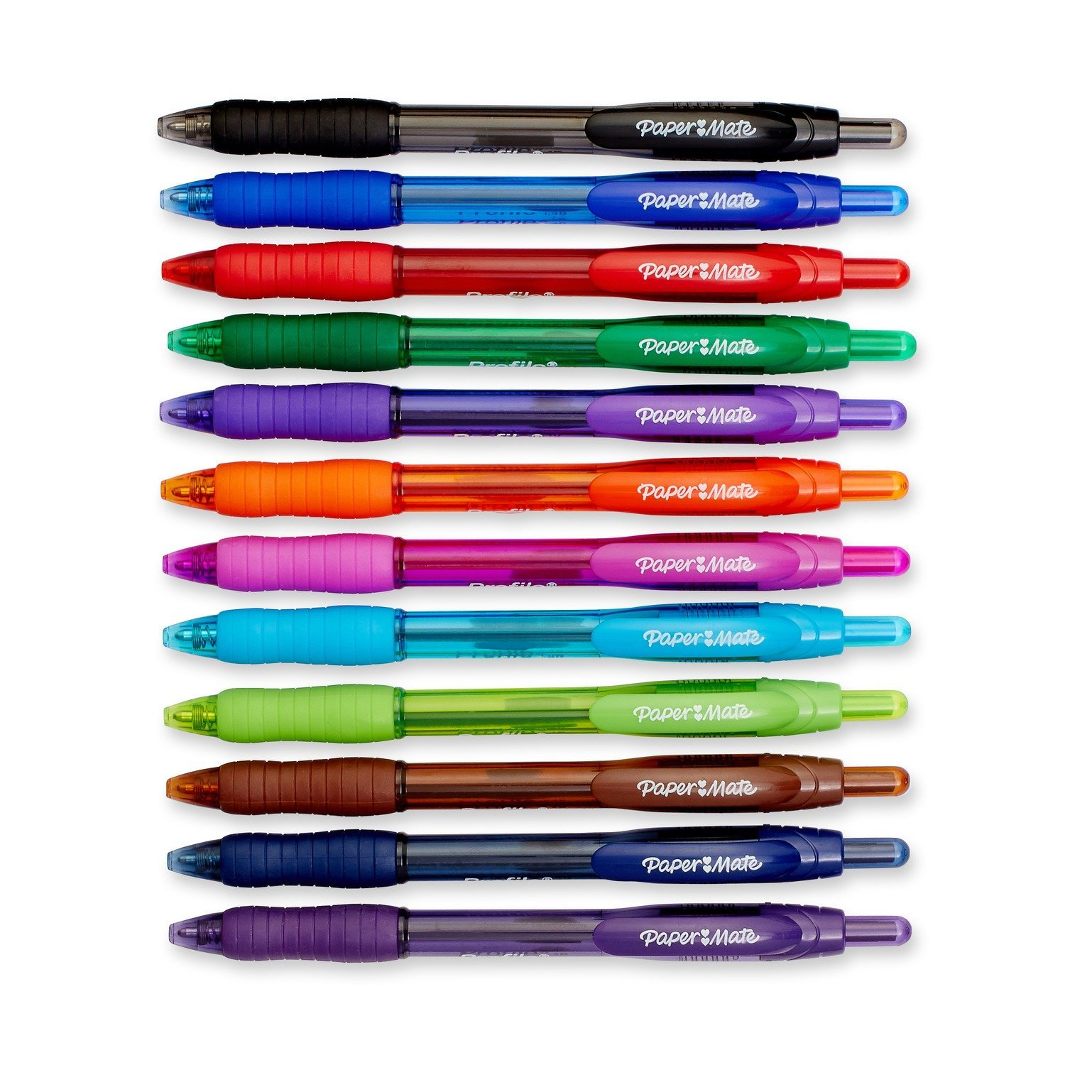Paper Mate Profile Retractable Ballpoint Pens, Bold (1.4mm), Assorted Colors, 12 Count by Paper Mate (Image #3)