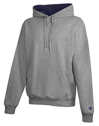 40d8e452e429 Champion mens Cotton Max 9.7 oz. Pullover Hood - Small - Oxford Grey Navy