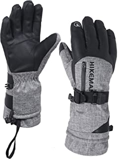69ee69f40798f HIKEMAN Winter Snowboard Ski Gloves with Pocket Waterproof Breathable  Thermal Thinsulate Gloves Mens,Warm Gloves