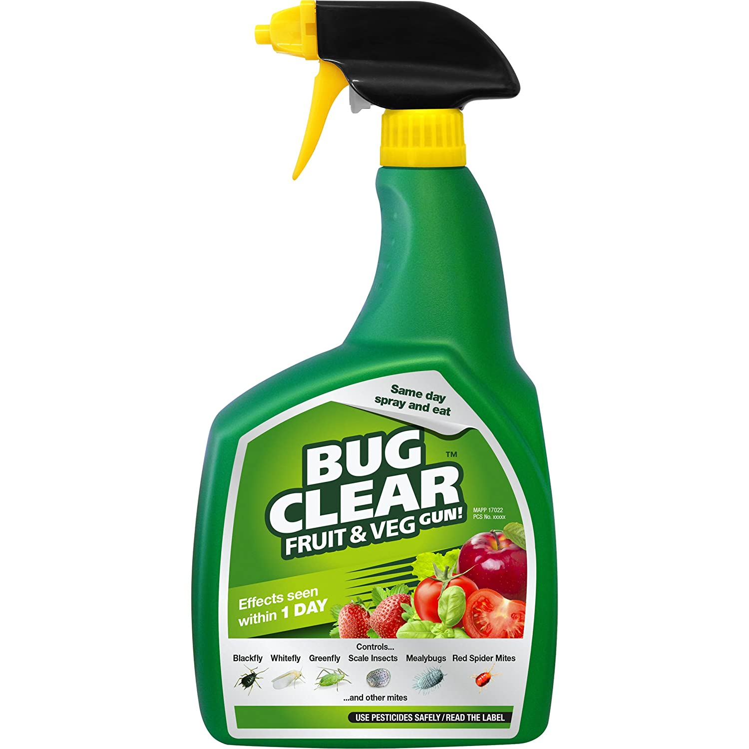 BugClear 019312 Fruit and Veg Gun 800 ml, Clear Evergreen Garden Care Ltd