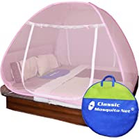 Classic Mosquito Net Foldable Flexible for Double Bed|King Size| - Full Pink