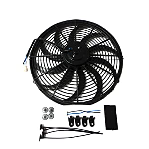 "Universal 16"" Heavy Duty Radiator Electric Fan 3000 Cfm Reversible SBC BBC 350"
