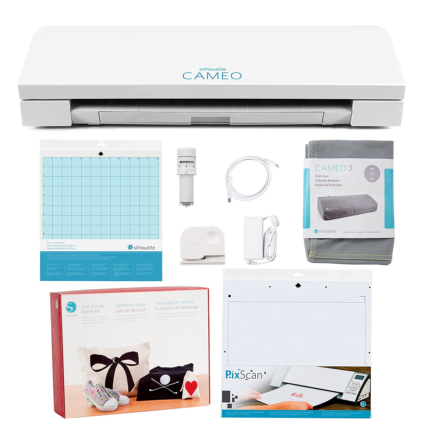 Silhouette Cameo3 Amzn4 Cameo 3 Heat Transfer Sewing Notion Bundle