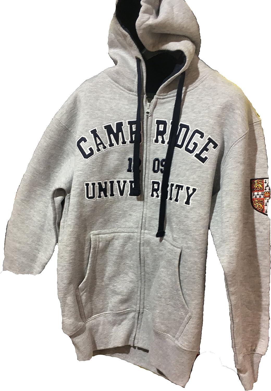 Official Cambridge University Zip Hoodie Charcoal