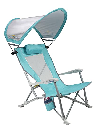 Wondrous Gci Outdoor Waterside Sunshade Folding Beach Recliner Chair With Adjustable Spf Canopy Home Remodeling Inspirations Basidirectenergyitoicom