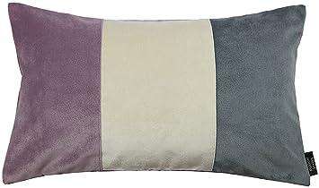 Amazon.com: 3 colores boudoir terciopelo Patchwork almohadas ...