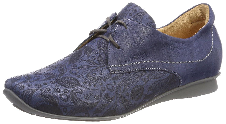 Think Chilli_282102, Zapatos de Cordones Brogue para Mujer 41 EU|Azul (Jeans/Kombi 84)