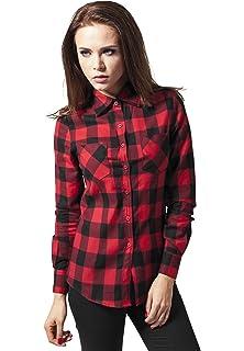 Urban Classics Ladies Checked Flanell Shirt, Camisa para Mujer