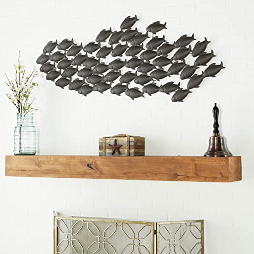 Deco 79 Metal Fish Wall Decor