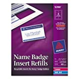 Avery 5390 Insert Badge Refill, Fits 2-1/4-Inch