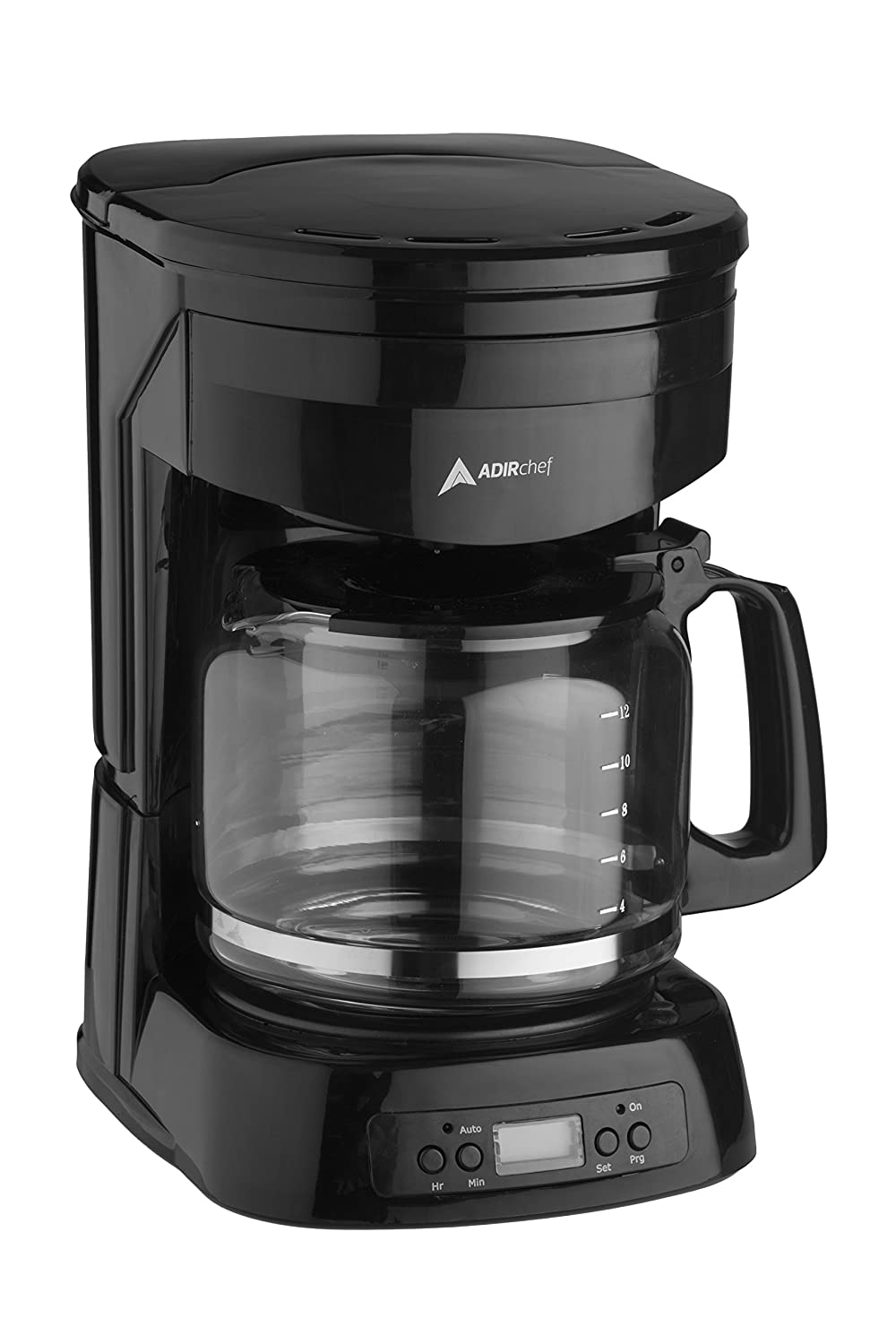 AdirChef 12-Cup Programmable Coffeemaker with Automatic Turn-On Timer and Automatic 2 Hours Turn-Off